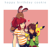 Happy Birthday Cookie by tabby-like-a-cat