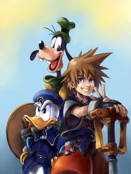 KingdomHearts Trio by Remainaery