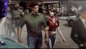 Chris and Claire Redfield by CostaKathy
