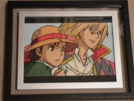 Howl and Sophie Cross Stitch by Karma-Pudding