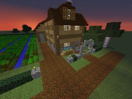Farmhouse Front by ColtCoyote