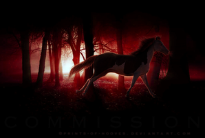comm: Red in the Darkness by prints-of-hooves