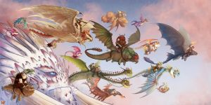 DRAGONS PARADE by MatildaDavidson