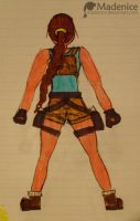 Lara, back, colour, marker by Madenice