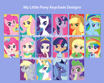 PONY KEYCHAINS by artist-black