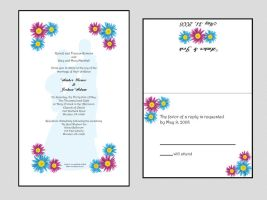 Wedding Invite and Res. Card by DrkSideofLuna