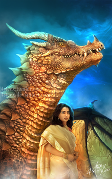 commission: 'Lady Excalibur IV' ebook cover by 4steex