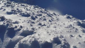 Snow pile mountain avalanche look alike by Hermit-stock