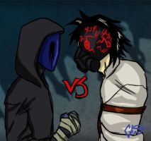 Eyeless Jack vs CreepyPastaJr by ControlledChaotic