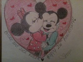 Mickey and Minnie Mouse -Anniversary card by Boggin