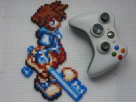 Kingdom Hearts Chain of Memories Sora Perler Bead by BigBossFF
