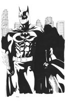 Batman Keaton Style Commission Inks by ESO2001