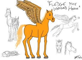 Fledge the Winged Horse by GeebMachine