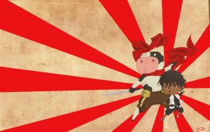 Muncher and Moo-chan wallpaper by The-Unknown-Muncher