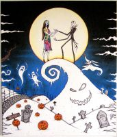 Halloween Town (Jack and Sally) by tonelo