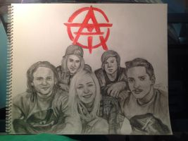 Tonight Alive Drawing by idlehand798