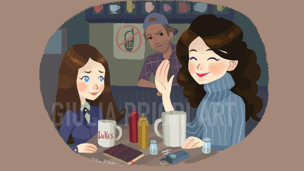 Girlmore Girls Luke's Diner by xxxKei87xxx