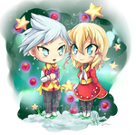 Chibi Holiday time by LittleOcean