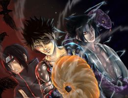 Team Uchiha by blacknoise