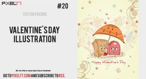 Free Valentine's Day illustration by pixel77-freebies