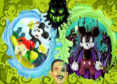 Epic Mickey  Paint and Thinner by rubtox