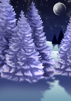 Free Winter Night Background by SweetLittleVampire
