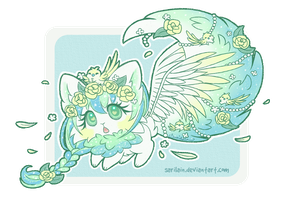 [CLOSED] Mint Rose Snugglekit (Dreamkit #12) by Sarilain