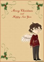 Xmas card - little angel by Dr-Nell