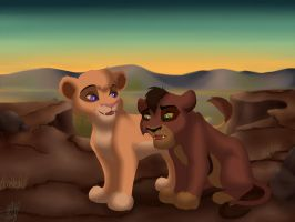 Vitani and Kovu by MarryGorgeous