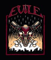 Evile t-shirt design by Nemons
