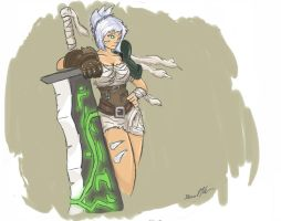 Riven the Exile Colored by L3monJuic3
