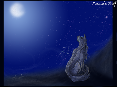 Look of luna to the moon by PolnochsArt