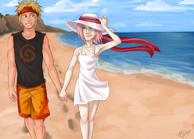 NaruSaku . Footprints by starchiishio