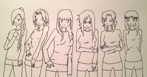 Naruto Girls - Gee by Digibear