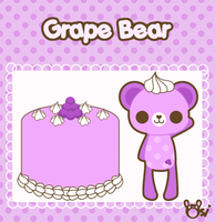 Grape Bear by sugarlette