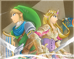 HW-Link and Zelda by Kilala04