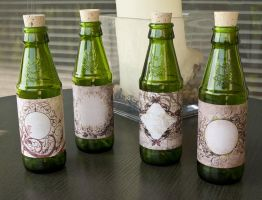 Labeled Round Bottles by CrystalKittyCat