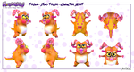 Monsterlings - Telior Physical Character Sheet by JWraith