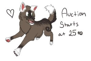 Wolf auction by MoMo-PointAdopts