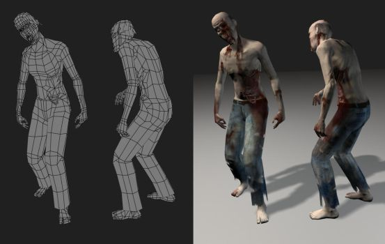 zombie-lowpoly by Audic