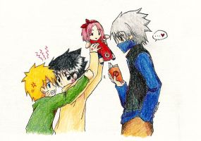 NARUTO: Hey, gimme that Doll. by mintntea