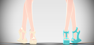 [MMD download] Heel-less Sandals! by Supurreme