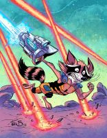 Rocket Raccoon in COLOR by tombancroft