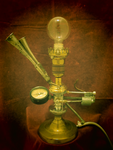 Steampunk lamp 'A Whatnot' by professor-theodosius
