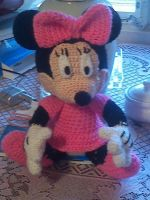 Minnie mouse crochet doll by EndlessBlueSky