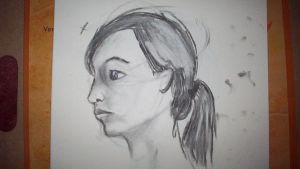 A model in charcoal by sing-snap-draw-life