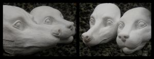 Fox and feline castings by KandorinCreations