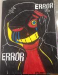 ERROR!SANS INK DRAWING by Calibriatheskeleton