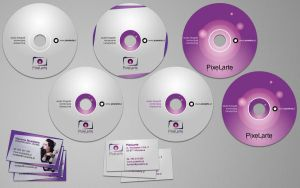 PixeLarte cds and business cards by michalkosecki