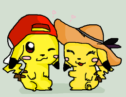 Pika and ChuChu by tinttiyo